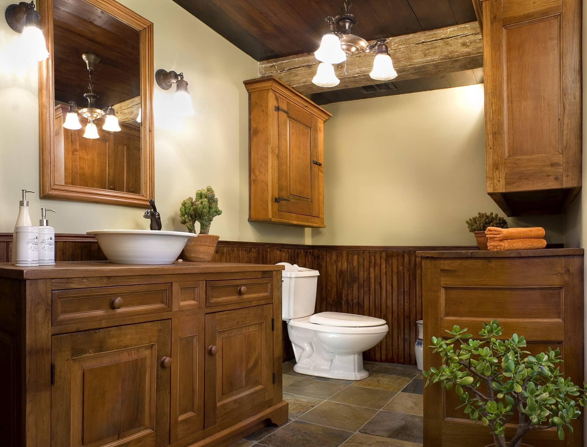 Salle De Bain Low Cost renovation de salle de bain avec cabinetterie antique - max